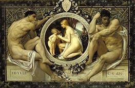 Klimt | Idylle, 1884 | Giclée Canvas Print