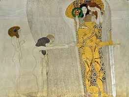 Klimt | Desire of Happiness (The Beethoven Frieze), 1902 | Giclée Canvas Print