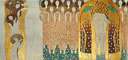 Klimt | Choir of Angels (The Beethoven Frieze), 1902 | Giclée Canvas Print