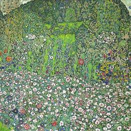 Klimt | Garden Landscape with Hilltop, 1916 | Giclée Canvas Print