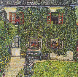 Klimt | Forester's House in Weissenbach on the Attersee, 1914 | Giclée Canvas Print