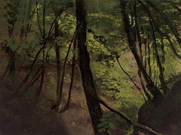 Klimt | Waldinneres (In the Middle of the Forest), c.1881/87 | Giclée Canvas Print