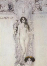 Klimt | Allegory of Sculpture | Giclée Canvas Print