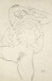 Klimt | Reclining Semi-Nude with Spread Legs | Giclée Paper Print