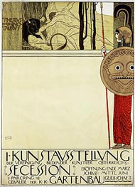 Klimt | Poster for the first art exhibition of the Secession Art Movement | Giclée Canvas Print