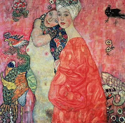 Girl Friends, c.1916/17 | Klimt | Painting Reproduction