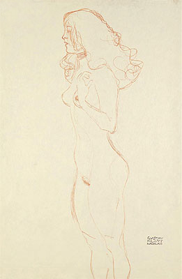 Standing Female Nude, c.1907 | Klimt | Painting Reproduction