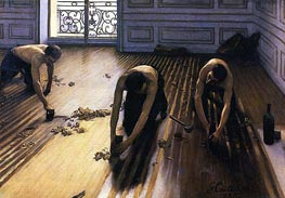 Caillebotte | The Floor Scrapers, 1875 | Giclée Canvas Print