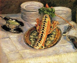 Caillebotte | Still Life with Crayfish, c.1880/82 | Giclée Canvas Print
