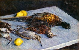Caillebotte | Game Birds and Lemons | Giclée Canvas Print
