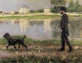 Caillebotte | Richard Gallo and His Dog, at Petit Gennevilliers | Giclée Canvas Print