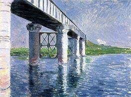 Caillebotte | The Bridge at Argenteuil | Giclée Canvas Print