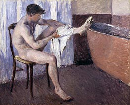 Caillebotte | Man Drying his Leg | Giclée Canvas Print