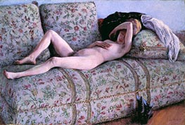 Caillebotte | Nude on a Couch, 1890 | Giclée Canvas Print