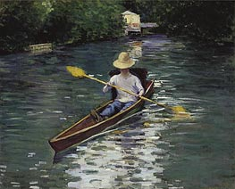 Caillebotte | Canoe on the Yerres River, 1878 | Giclée Canvas Print