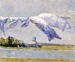 Laundry Drying, Petit Gennevilliers, 1888 by Caillebotte | Giclée Canvas Print