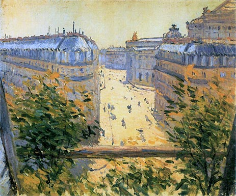 Rue Halevy Balcony View, 1878 | Caillebotte | Painting Reproduction