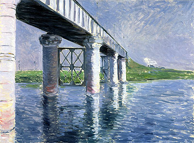 The Bridge at Argenteuil, c.1885/87 | Caillebotte | Painting Reproduction