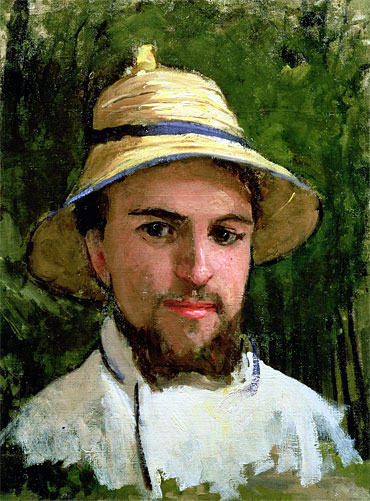 Self Portrait with Pith Helmet, undated | Caillebotte | Painting Reproduction