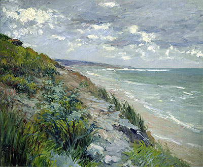 Cliffs by the Sea at Trouville, undated | Caillebotte | Painting Reproduction