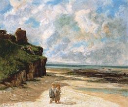 Courbet | The Beach at Saint-Aubin-sur-Mer, 1867 | Giclée Canvas Print