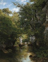 Courbet | The Water Stream, La Breme, 1866 | Giclée Canvas Print