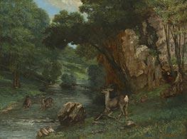Courbet | Roe Deer at a Stream, 1868 | Giclée Canvas Print