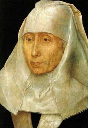 Hans Memling | Portrait of an Old Woman, c.1468/70 | Giclée Canvas Print