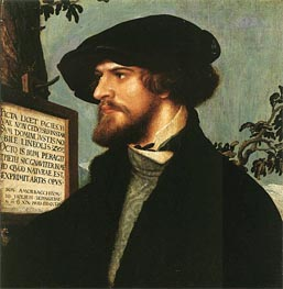 Hans Holbein   Portrait of Bonifacius Amerbach   Giclée Canvas Print
