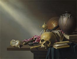Still Life: An Allegory of the Vanities of Human Life, c.1640 by Harmen Steenwijck | Giclée Canvas Print