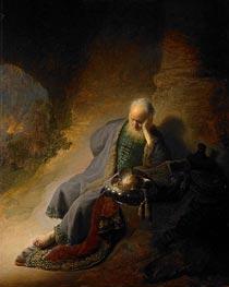 Rembrandt | Jeremiah Lamenting the Destruction of Jerusalem, 1630 | Giclée Canvas Print