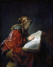 Rembrandt | The Prophetess Anna (known as Rembrandt's Mother), 1631 | Giclée Canvas Print