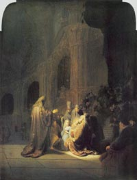 Rembrandt | Simeon in Temple, 1631 | Giclée Canvas Print