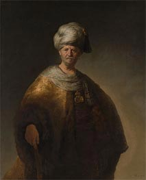 Rembrandt | Man in Oriental Costume (The Noble Slav), 1632 | Giclée Canvas Print