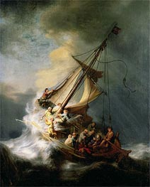 Rembrandt | Storm on the Sea of Galilee, 1633 by | Giclée Canvas Print
