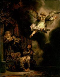 Rembrandt | The Archangel Leaving the Family of Tobias, 1637 | Giclée Canvas Print