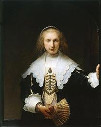 Rembrandt | Portrait of Agatha Bas, 1641 | Giclée Canvas Print