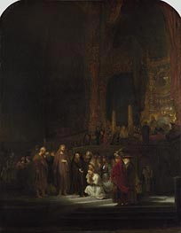 Rembrandt | Christ and the Woman Taken in Adultery, 1644 | Giclée Canvas Print