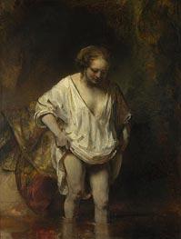 Rembrandt | A Woman Bathing in a Stream (Hendrickje Stoffels) | Giclée Canvas Print