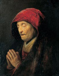 Rembrandt | Old Woman Praying (Rembrandt's Mother Praying), c.1629/30 | Giclée Canvas Print