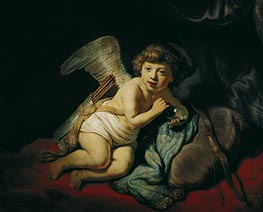 Rembrandt | Cupid with the Soap Bubble, 1634 | Giclée Canvas Print