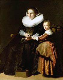 Rembrandt | Susanna van Collen, Wife of Jean Pellicorne with Her Daughter Anna | Giclée Canvas Print