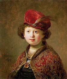 Rembrandt | A Boy in Fanciful Costume | Giclée Canvas Print