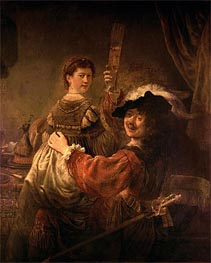 Rembrandt | Self Portrait with Saskia in the Parable of the Prodigal Son, c.1635 | Giclée Canvas Print
