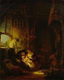 Rembrandt | The Carpenter's Shop | Giclée Canvas Print