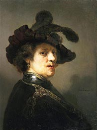 Rembrandt   Portrait of a Man with Hat with Plume   Giclée Canvas Print