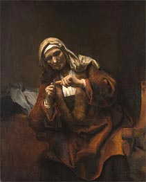 Rembrandt | Old Woman Cutting Her Nails, 1648 | Giclée Canvas Print