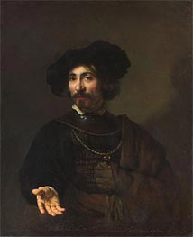Rembrandt | Man with a Steel Gorget, 1644 | Giclée Canvas Print