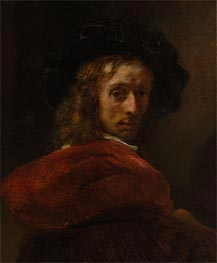 Rembrandt | Man in a Red Cloak, Undated | Giclée Canvas Print