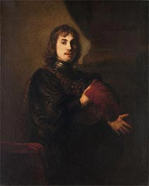Rembrandt | Portrait of a Man with a Breastplate and Plumed Hat | Giclée Canvas Print